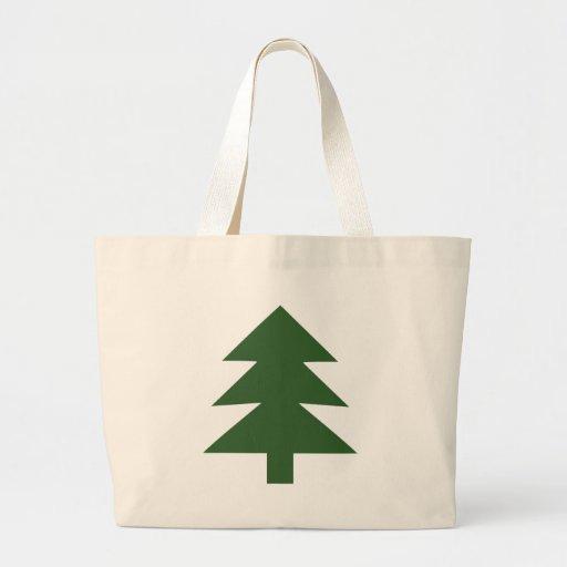 árbol de abeto verde bolsa tela grande
