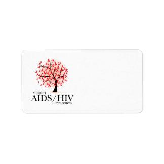 Árbol de AIDS/HIV Etiqueta De Dirección