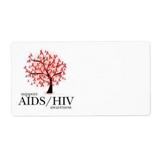 Árbol de AIDS/HIV Etiqueta De Envío