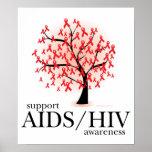 Árbol de AIDS/HIV Poster