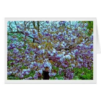 Árbol de almendra en el jardín de Monet Tarjeton