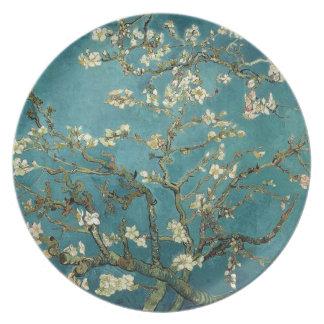 Árbol de almendra floreciente (1890) por Van Gogh Platos Para Fiestas