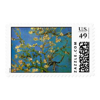 Árbol de almendra floreciente de Van Gogh, bella Estampillas