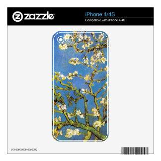 Árbol de almendra floreciente de Van Gogh Calcomanías Para iPhone 4S