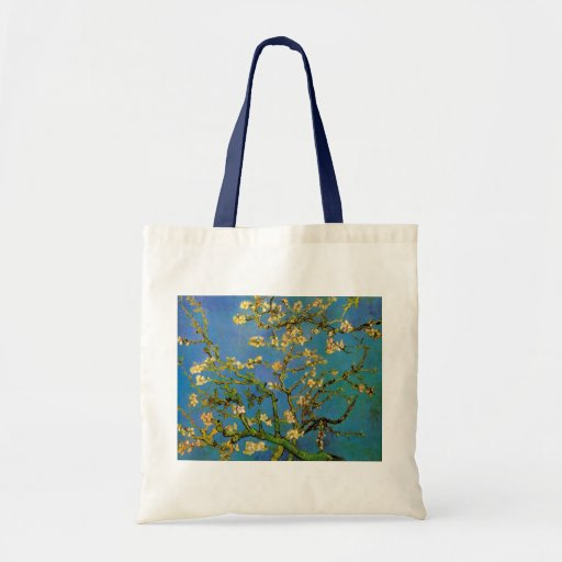 Árbol de almendra floreciente de Van Gogh, flor Bolsa Tela Barata