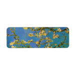 Árbol de almendra floreciente de Van Gogh, flor Etiqueta De Remitente