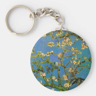 Árbol de almendra floreciente de Van Gogh, flor Llavero Redondo Tipo Chapa
