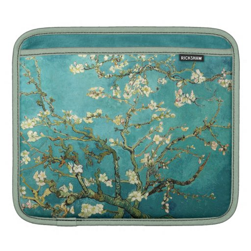 Árbol de almendra floreciente de Van Gogh Mangas De iPad
