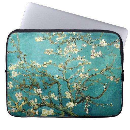 Árbol de almendra floreciente de Van Gogh Funda Computadora