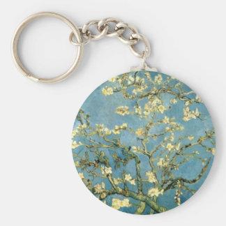 Árbol de almendra floreciente de Van Gogh Llavero Redondo Tipo Pin