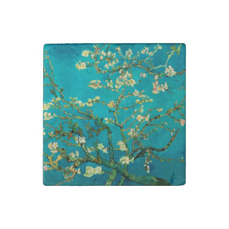 Árbol de almendra floreciente de Vincent van Gogh Imán De Piedra