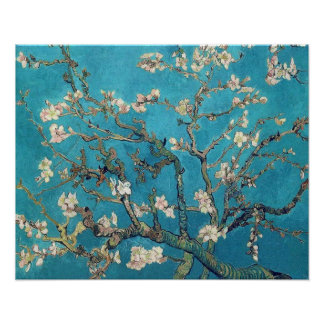 Árbol de almendra floreciente de Vincent van Gogh Póster