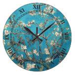 Árbol de almendra floreciente de Vincent van Gogh Reloj De Pared