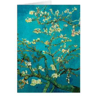 Árbol de almendra floreciente de Vincent van Gogh Tarjetón