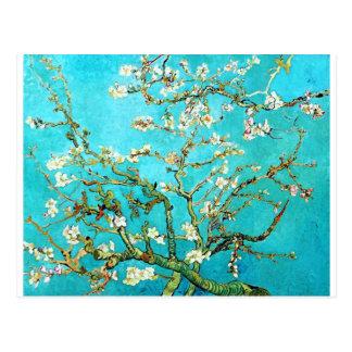 Árbol de almendra floreciente de Vincent van Gogh Tarjeta Postal