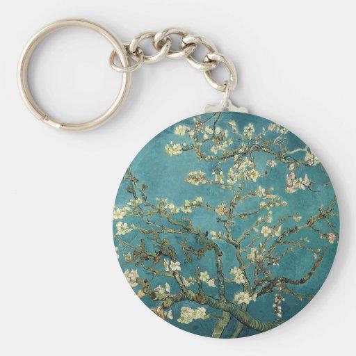 Árbol de almendra floreciente - Van Gogh Llavero Redondo Tipo Pin