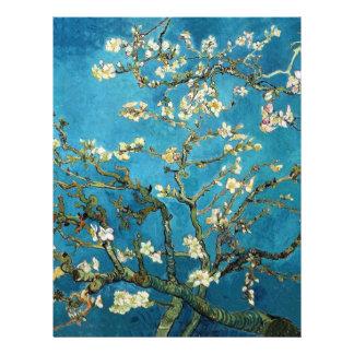 Árbol de almendra floreciente, Van Gogh. Plantilla De Membrete