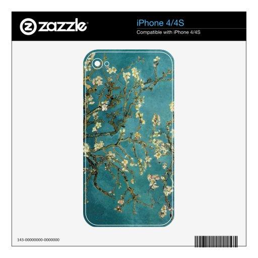 Árbol de almendra floreciente - Van Gogh iPhone 4S Calcomanía
