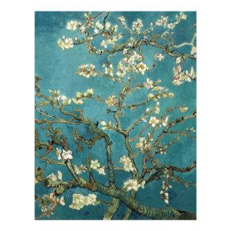 Árbol de almendra floreciente, Vincent van Gogh. Tarjeton