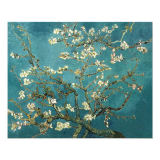 Árbol de almendra floreciente, Vincent van Gogh. Tarjeta Publicitaria
