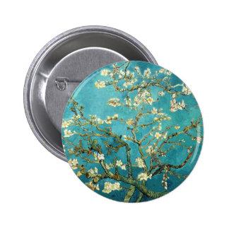 Árbol de almendra floreciente - Vincent van Gogh Pin Redondo 5 Cm