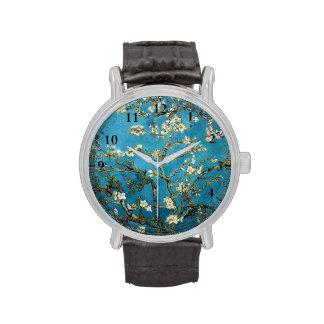 Árbol de almendra floreciente, Vincent van Gogh. Relojes