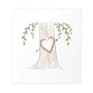Árbol de amor bloc de notas