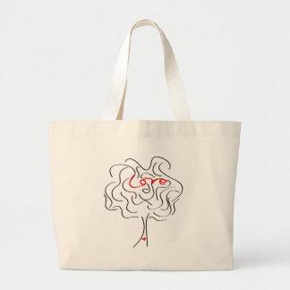 Árbol de amor bolsa tela grande