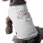 Árbol de amor camisetas de mascota