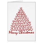Árbol de amor del navidad felicitaciones