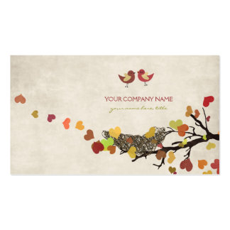Árbol de amor plantillas de tarjeta de negocio