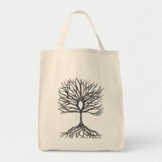 Árbol de Ankh del diseño de la vida Bolsa Tela Para La Compra