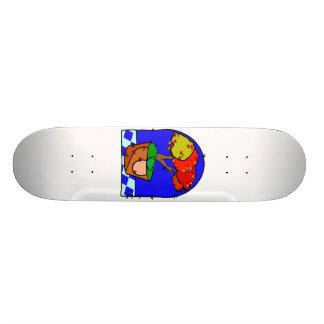 Árbol de arce en fondo del azul del pote patinetas personalizadas