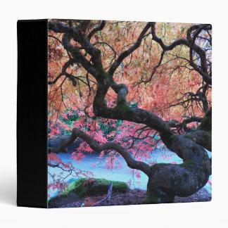 "Árbol de arce japonés del otoño floral carpeta 1 1/2"""