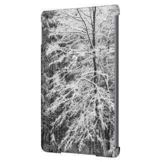 Árbol de arce resumido en nieve funda para iPad air
