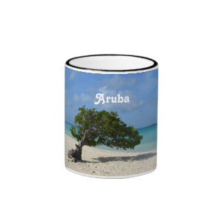 Árbol de Aruba Divi Divi Tazas De Café