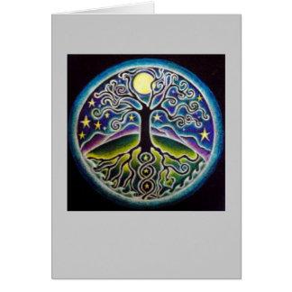Árbol de baile de Luna Llena de la tarjeta de la m