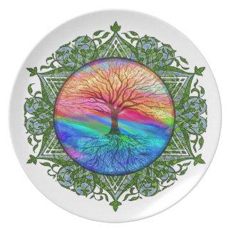 Árbol de calmar de la vida platos para fiestas