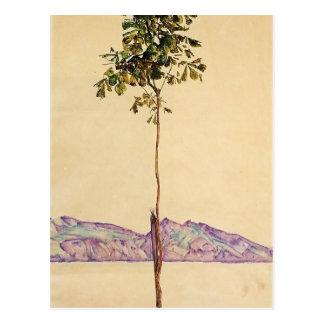 Árbol de castaña de Egon Schiele- en el lago de Co Postales