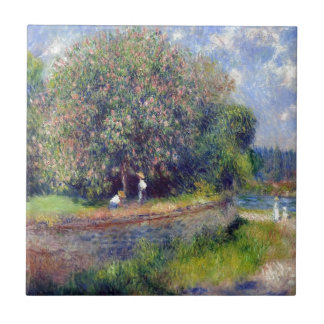 Árbol de castaña de Pierre-Auguste Renoir Azulejo Cuadrado Pequeño