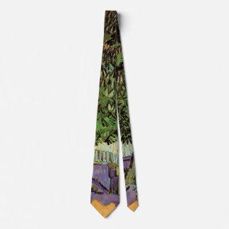 Árbol de castaña de Van Gogh en bella arte del Corbatas Personalizadas