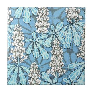 Árbol de castaña del vintage azulejo cuadrado pequeño