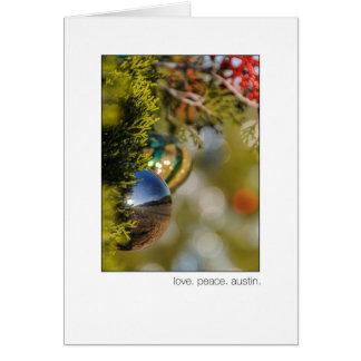 Árbol de cedro del navidad del lazo de Austin 360 Tarjeton