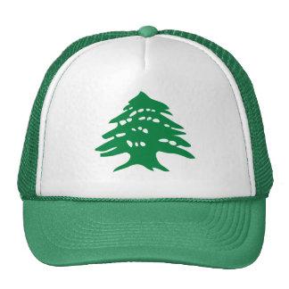 Árbol de cedro verde de Líbano Gorra