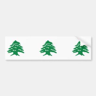 Árbol de cedro verde de TRES Líbano Pegatina Para Auto