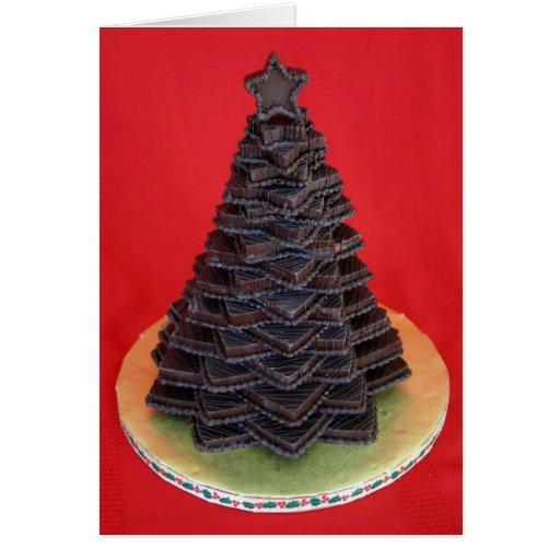 Árbol de chocolate tarjeta de felicitación