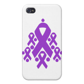 Árbol de cinta del navidad de la epilepsia iPhone 4/4S carcasa