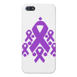 Árbol de cinta del navidad de la epilepsia iPhone 5 cárcasas