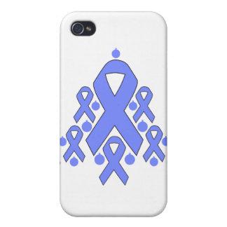 Árbol de cinta del navidad del cáncer de estómago iPhone 4/4S fundas