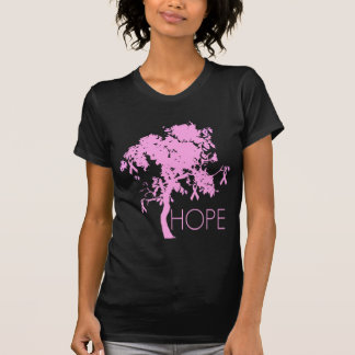 Árbol de cinta rosado de la esperanza playeras